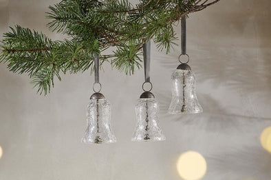 Nkuku CHRISTMAS DECORATIONS Jai Glass Bells