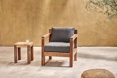 Nkuku FURNITURE Jaisalmer Reclaimed Teak Armchair
