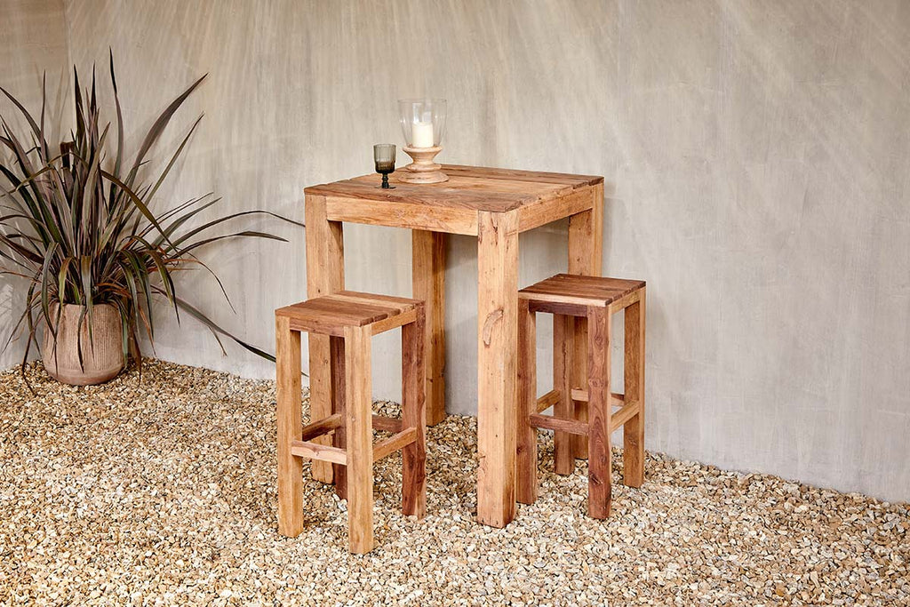 Nkuku FURNITURE Jaisalmer Reclaimed Teak Bar Stool (Available from 29th March)