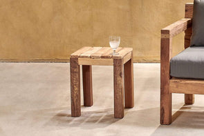 Nkuku FURNITURE Jaisalmer Reclaimed Teak Side Table
