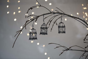 Nkuku CHRISTMAS DECORATIONS Jaria Wire Cage Decorations