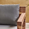 Nkuku FURNITURE Jasailmer Reclaimed Teak Sofa With Arms & Cushions