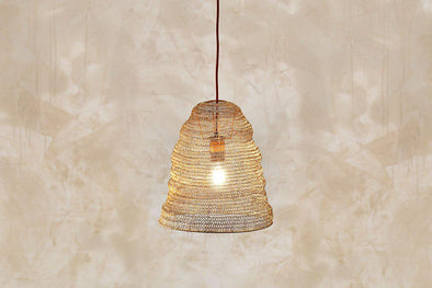 Nkuku LIGHTING Jatani Wire Lampshade - Small Antique Brass