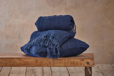 Nkuku CUSHIONS & THROWS Kadin Throw - Indigo