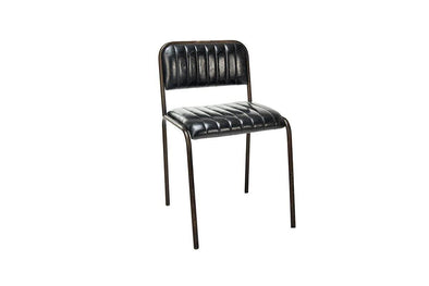 Nkuku FURNITURE Kavita Ribbed Leather Dining Chair