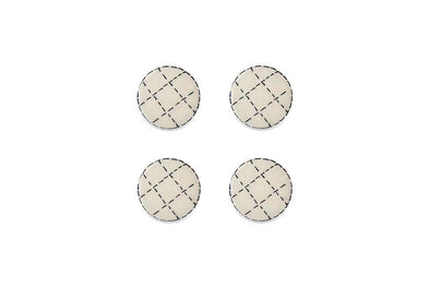 Nkuku HOOKS & KNOBS Kayba Ceramic Knob - Patchwork (Set of 4)