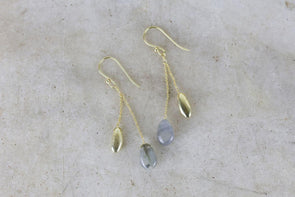 Nkuku JEWELLERY & ACCESSORIES Keebu Labradorite Earrings - Gold
