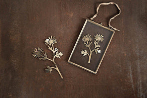 Nkuku DECORATIVE ACCESSORIES Kiko Brass Dandelion Artwork - Matt Brass