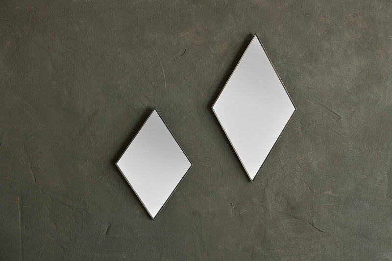 Nkuku MIRRORS Kiko Diamond Mirror - Antique Black