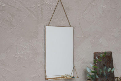 Nkuku MIRRORS Kiko Mirror With Shelf