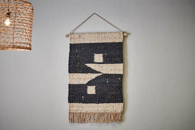 Nkuku DECORATIVE ACCESSORIES Kilbo Hemp Wall Hanging - Blocks