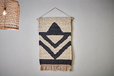 Nkuku DECORATIVE ACCESSORIES Kilbo Hemp Wall Hanging - Triangles