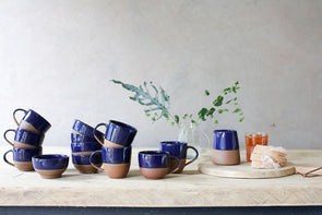Nkuku TABLEWARE Mali Navy and Terracotta