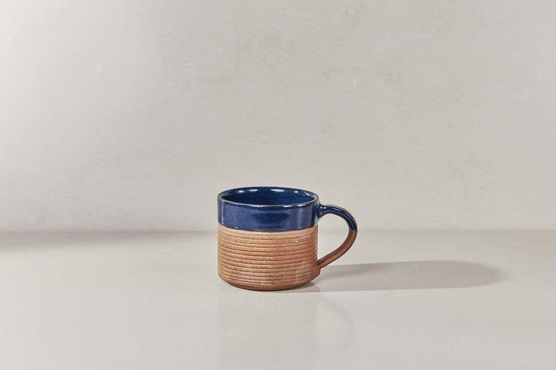 Nkuku TABLEWARE Mali Ribbed Coffee Mug - Navy