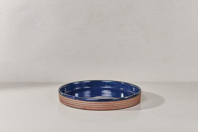 Nkuku TABLEWARE Mali Ribbed Tray - Navy