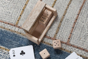 Nkuku DECORATIVE ACCESSORIES Mango Wood Dice Set