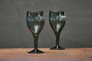 Nkuku GLASSWARE Mila Wine Glass - Dark Emerald