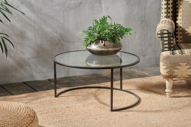 Nkuku FURNITURE Nakuru Iron & Glass Coffee Table