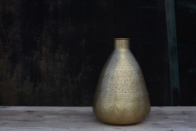 Nkuku DECORATIVE ACCESSORIES Nami Brass Pot - Tall