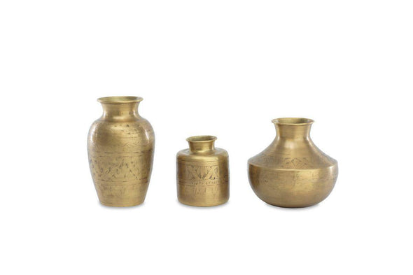 Nkuku DECORATIVE ACCESSORIES Nami Brass Vase