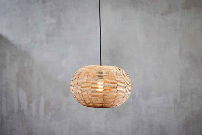 Nkuku LIGHTING Noko Natural Wicker Round Pendant - Small