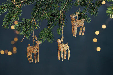 Nkuku CHRISTMAS DECORATIONS Ramya Wire Reindeer
