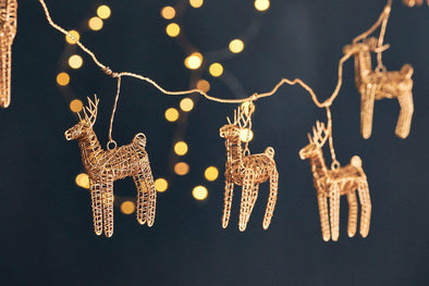 Nkuku CHRISTMAS DECORATIONS Ramya Wire Reindeer Garland