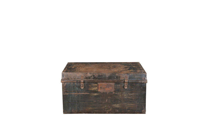 Nkuku INDIAN ANTIQUES FURNITURE Reclaimed Metal Chest