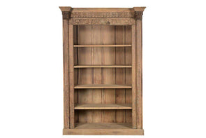 Nkuku INDIAN ANTIQUES FURNITURE Reclaimed Ornate Wooden Bookshelf