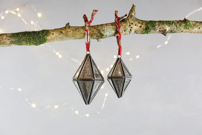 Nkuku CHRISTMAS DECORATIONS Sakata Decoration (Set of 2) - Zinc