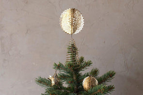 Nkuku CHRISTMAS DECORATIONS Sankari Round Tree Topper