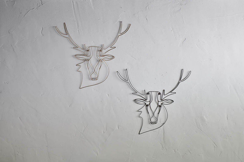 Nkuku DECORATIVE ACCESSORIES Stag Wire Wall Art