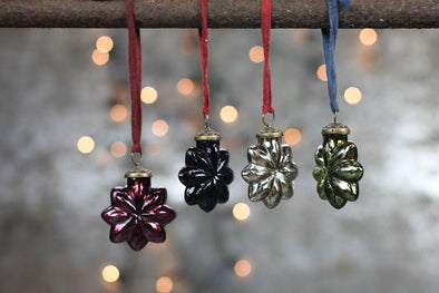 Nkuku CHRISTMAS DECORATIONS Talu Star Baubles (Set Of 4)