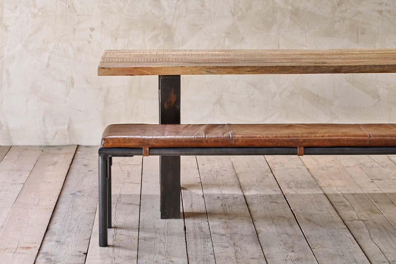 Nkuku FURNITURE Taya Leather Bench - 180cm