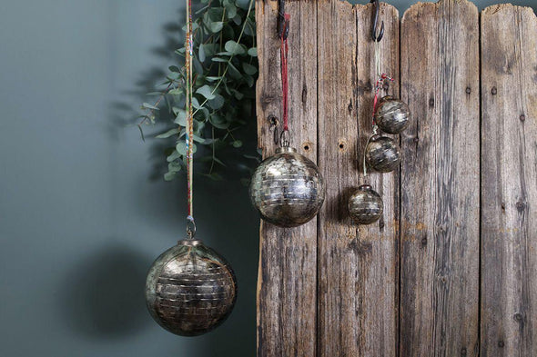 Nkuku CHRISTMAS DECORATIONS Tiko Baubles - Set Of 3