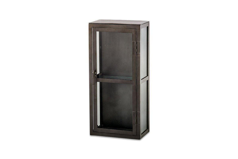Nkuku FURNITURE Tiko Iron & Glass Wall Hung Cabinet