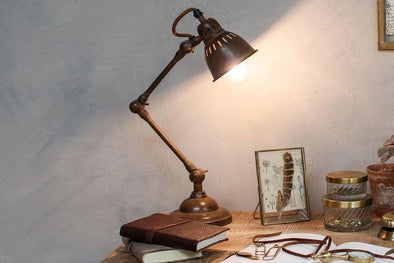 Nkuku LIGHTING Tubu Rust Desk Lamp