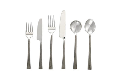 Nkuku TABLEWARE Usa Cutlery - Set Of 24 - Brushed Silver