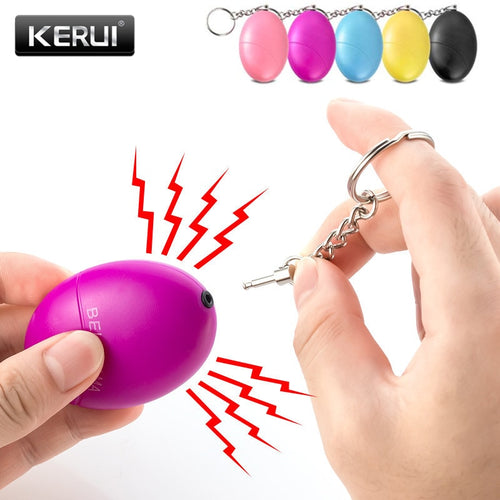 Self Defense Alarm 120dB Egg Shape Women Security Protect Alert Keychain