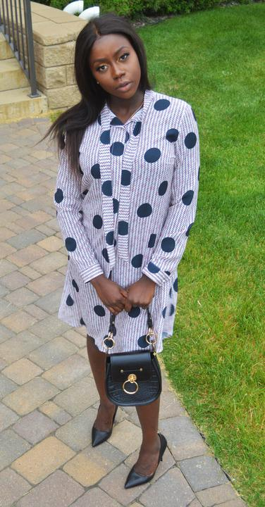 Dot shirt Dress