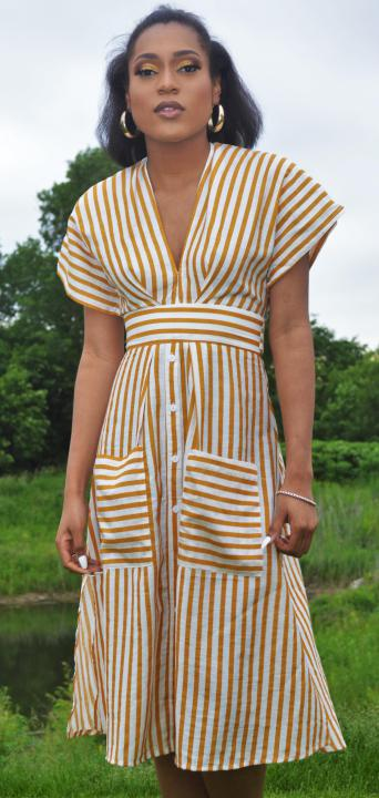 Stripe Down Dress