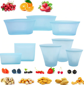 Food Saver Silicone Bags (Set Of 8 )