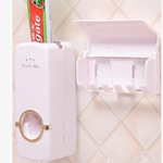 Wall Mounted Toothpaste And Toothbrush Holder