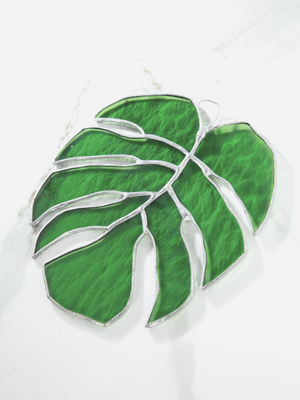 Stained Glass Monstera Leaves