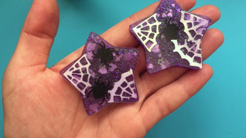 Resin charms demolded out of silicone mold