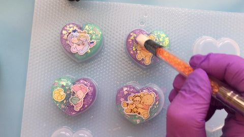 doming resin charms