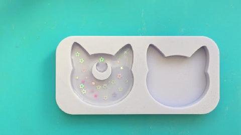 Add embellishments into your first layer of clear resin