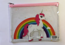 Load image into Gallery viewer, A5 Plastic Folder - Rainbow Unicorn