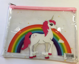 A5 Plastic Folder - Rainbow Unicorn
