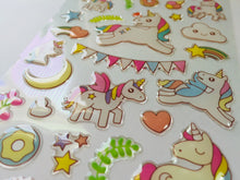 Load image into Gallery viewer, Unicorn Party Epoxy Stickers